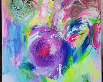 Abstract Painting contemporary art modern art original painting coldplay music
