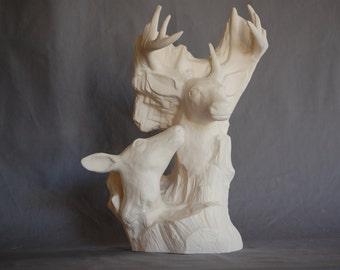 """Doc Holliday Driftwood Deer 13"""" x 8 1/4"""""""