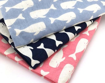 Pink Whale Fabric Etsy