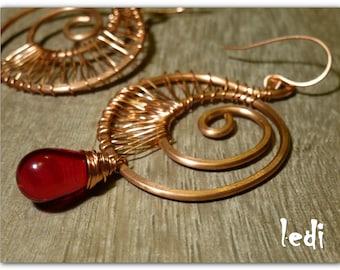 earrings with Bohemian crystal drop