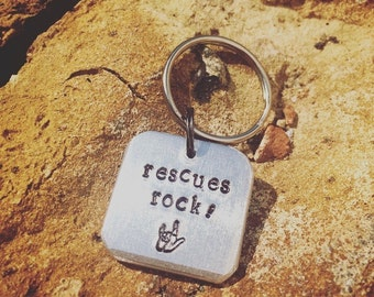 Rescues Rock! Chunky Dog ID Tag