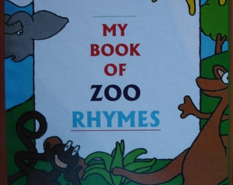 Personalized Books for Kids, My Book of Zoo Rhymes, Personalized Gifts for Kids, Personalized Baby Gifts, Personalized Books, Kids Books