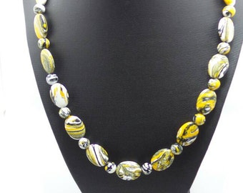 Yellow Turkey Turquoise Beaded Necklace.