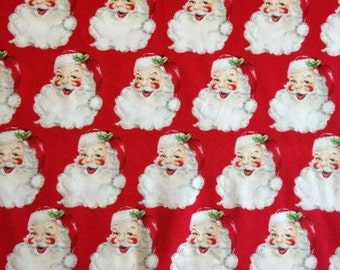 Red St Nick - Christmas Kitsch - Anna Griffin Fat Quarters 100% cotton quilting dressmaking nursery floral UK Shop