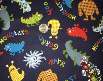Monsters fabric by Michael Miller