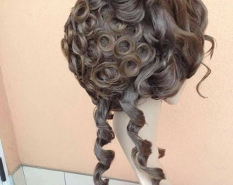 Order Wig victorian costume roccoco curly