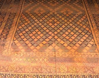 14'7 by 9 FT Antique Ghalmori faded color North Side of Afghanistan Kilim
