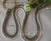 Cord of Three Strands, Wedding Unity Cords, Unity KnotCord of Three Strands, Braid cord ceremony , Gods Unity, Wedding Cords, 5 mm cords