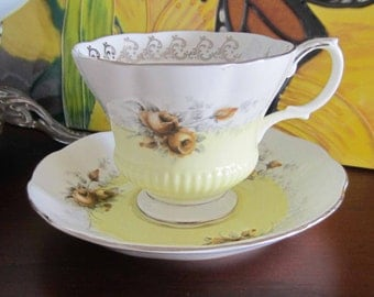 Royal Albert DAYBREAK Rose Marie Series Bone China Tea Cup and Saucer