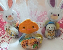 Bunny and Chicken Tulle Bag Party Favour Topper set (4x4)