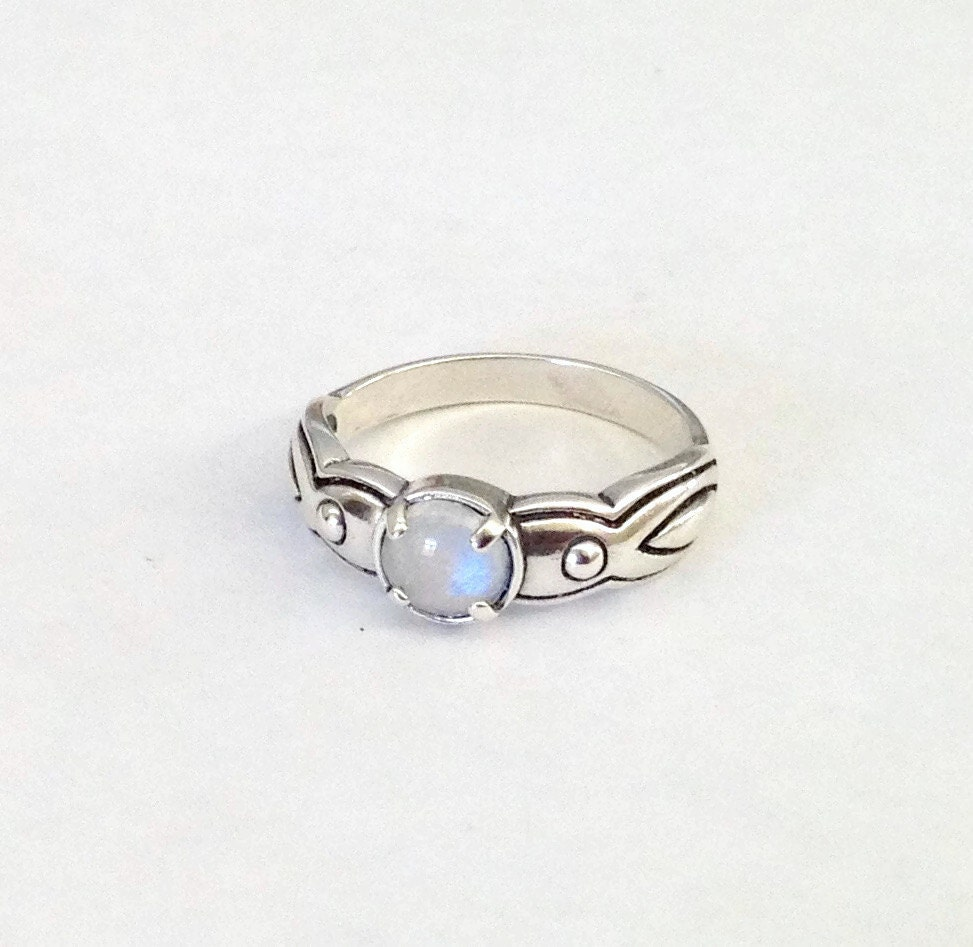 rainbow moonstone ring sterling silver ring gem by