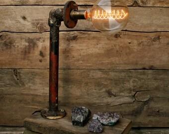 Steel Pipe Lamp - Rustic Pipe Lamp - Desk Lamp - Table Lamp - Industrial Lamp - Rustic Lamp -Urban Lamp - Steam Punk