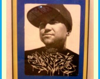 Portrait of the Bast*rd of Broadway Graffiti Art