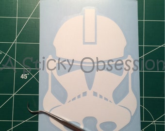 Star Wars Inspired Clone Trooper Helmet Decal