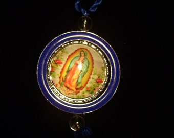 Mother Guadalupe Car/Home Hanging Prayer Charm