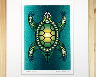 Native American Art - Giclee Art Print - Turtle Clan - 8 x 10 Archival Art Print
