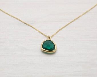 "925 gold chain ""emerald"""