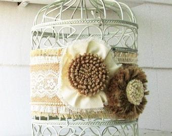 wedding birdcage card holder floral birdcage wedding card holder floral birdcage antique ivory