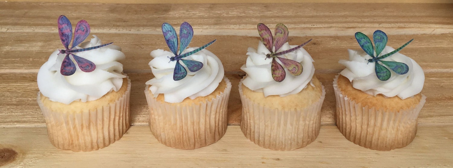 dragonfly cupcake toppers