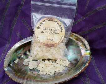 White Copal Resin Incense 1oz, Spiritual Incense, Ritual Incense