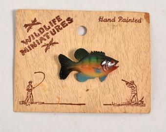 Multicolored Vintage Hand Painted Costume Wildlife Miniature Pin