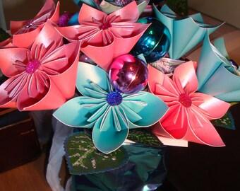 Icical paper flower bouquet
