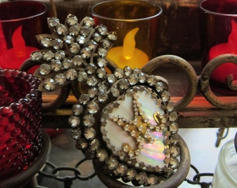 Sacred Heart Ex Voto - Mother of Pearl French Paste Gems