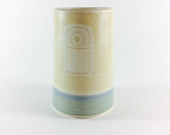 Tall ceramic vase minimalist ceramic flower vase pottery vase pottery flower vase neutral vase geometric vase ceramic cylinder vase minimal