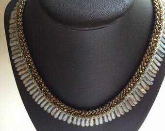 Blue Dagger necklace