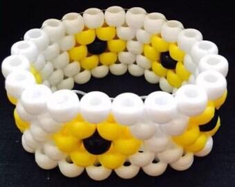 PLUR kandy rave Daisy neon cuff bracelet