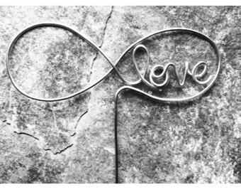 """6"""" Infinite Love Wire Cake Topper"""