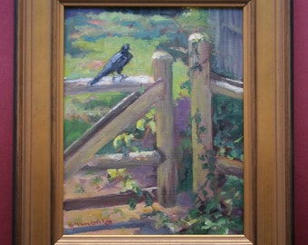 Raven, Oil Painting, Landscape, Wildlife, Original