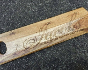 Personalised Long Cheese Serving Board Design 7