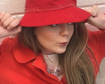 Vintage Bright Red Kangol hat.