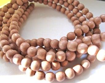 Rosewood beads, full strand, 70 beads, 6mm - #115