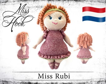 "Haakpatroon voor de pop ""Miss Rubi"" eBook PDF (dutch)"