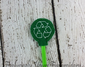 Recycle Pencil Toppers - Classroom Prizes - Party Favor - Party Supplies - Small Gift - Back to School