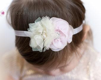 Lavender Headband, Pink Baby Headband, Purple Baby Headband, Baby Flower Headband, Newborn Headband, New Baby Girl, Mini Headband