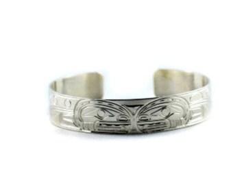 Pacific Northwest Coast Native Design Silver Bracelets