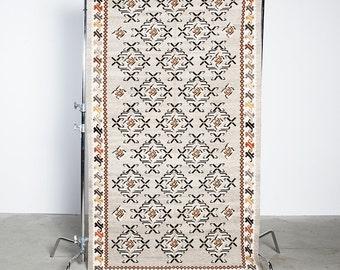 Handmade Transylvanian Geometric Motif Carpet