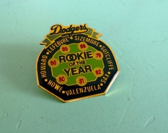 LA Dodgers Unocal 76 Rookie of the Year Award Winners Pin 1988 Free Shipping
