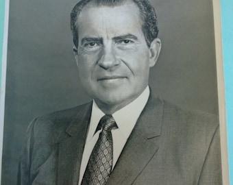 Vintage Richard Nixon Presidential Portrait Philippe Halsman Free Shipping