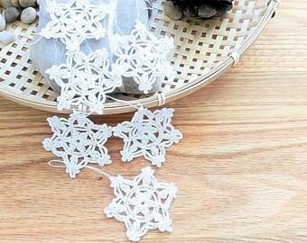 Snowflake lace ornament-Christmas ornament-crochet snowflake decoration-white Christmas snowflake