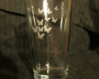 Fluttering Butterfly Pint Glass, Perfect Mother's Day Gift Idea