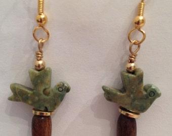 Rhyolite Bird Earrings