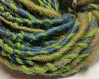 Sale! Yarn ,Hand spun wool yarn, crochet,  knitting, fiber, Waldorf doll hair, 4.2oz, 40 yrds