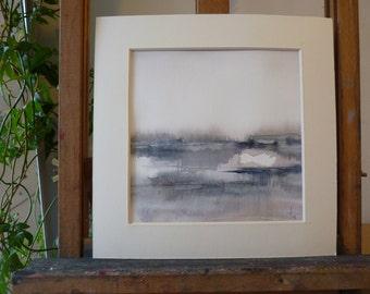 Original watercolor: landscape imagined