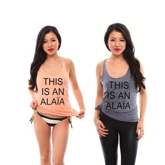This is an ALAIA Ladies Tank Top, Workout Tank, Funny Shirts, Funny Tshirts, Workout Clothes, Work Out Tanks, Birthday Gift, Gift for Her