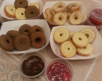 Bibingka Donuts - Bite-Sized Gluten-Free Filipino Pastry with dipping sauce