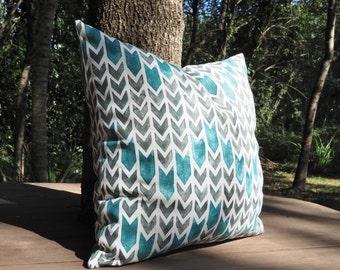 Pillow Geometric Grey&Teal Pillow Case